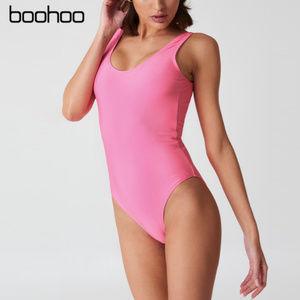 Boohoo - 'Dubai' Scoop Back Swimsuit (PINK)